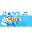 analysis data statistics finance graph financial vector image