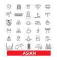 asia chinese people indian japanese culture vector image
