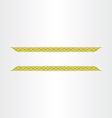 decorative golden title frame line design element vector image
