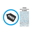 Free Sticker Rounded Icon with 1000 Bonus Icons vector image