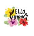 hello summer card vector image