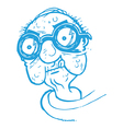 Old Man with Thick Glasses vector image