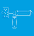 Precision grinding machine icon outline vector image