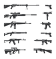set of guns icons vector image