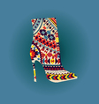 shoes Fashion Beautiful boot vector image