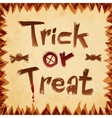 Trick or treat design paper background vector image