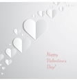 Valentines Day card with cut paper hearts vector image