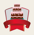 birthday card cake banner vector image