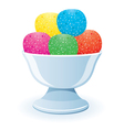 jelly in a bowl vector image
