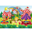 Children having fun in the circus vector image vector image