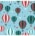 hot air balloon pattern vector image vector image