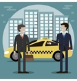 Taxi Driver Service vector image