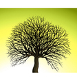 Big Tree on Green Background vector image