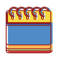 calendar information to organizer event day vector image