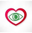 heart eye design vector image