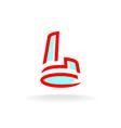 Letter L building logo vector image