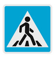 pedestrian icon flat style vector image