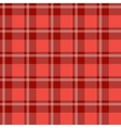 Red plaid fabric vector image