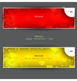 set of banners with hearts valentines day backgrou vector image