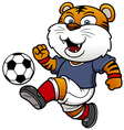 Soccer tiger player vector image