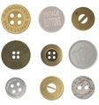 Vintage buttons vector image