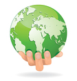 Hands Save Earth vector image