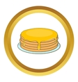 Pancakes with honey icon vector image vector image