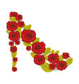 colorful silhouette of high heel shoe formed by vector image