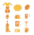 Holidays and party icons vector image vector image