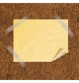 Collection of various white note papers ready for vector image