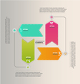 Ribbon Infographic vector image