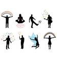 concept pictures with people silhouette in vector image