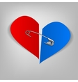 21 pinned heart vector image