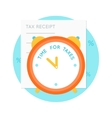 Alarm Clock and Tax Receipt vector image