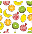 Fruit seamless background vector image