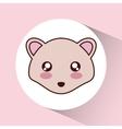 Kawaii hedgehog icon Cute animal graphic vector image