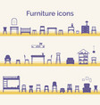 set of different furniture icons vector image