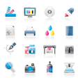 Print industry and graphic design icons vector image vector image
