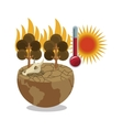 Global warming and environment design vector image