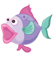 a purple fish vector image vector image