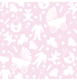 Seamless Pink Baby Background vector image vector image