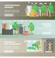 set of residential construction concept vector image