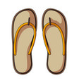 beach flip flopssummer rest single icon in vector image