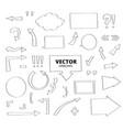 set of hand drawn arrows pen design elements vector image vector image