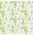Spring flowers snowdrops natural seamless pattern vector image vector image