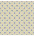 Retro seamless blue polka dots pattern vector image