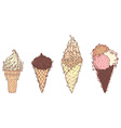 Ornate ice-creams vector image