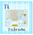 Alphabet T is for toilet vector image