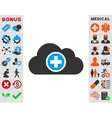 Health Care Cloud Icon vector image