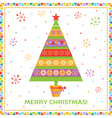 Background with bright fir tree vector image